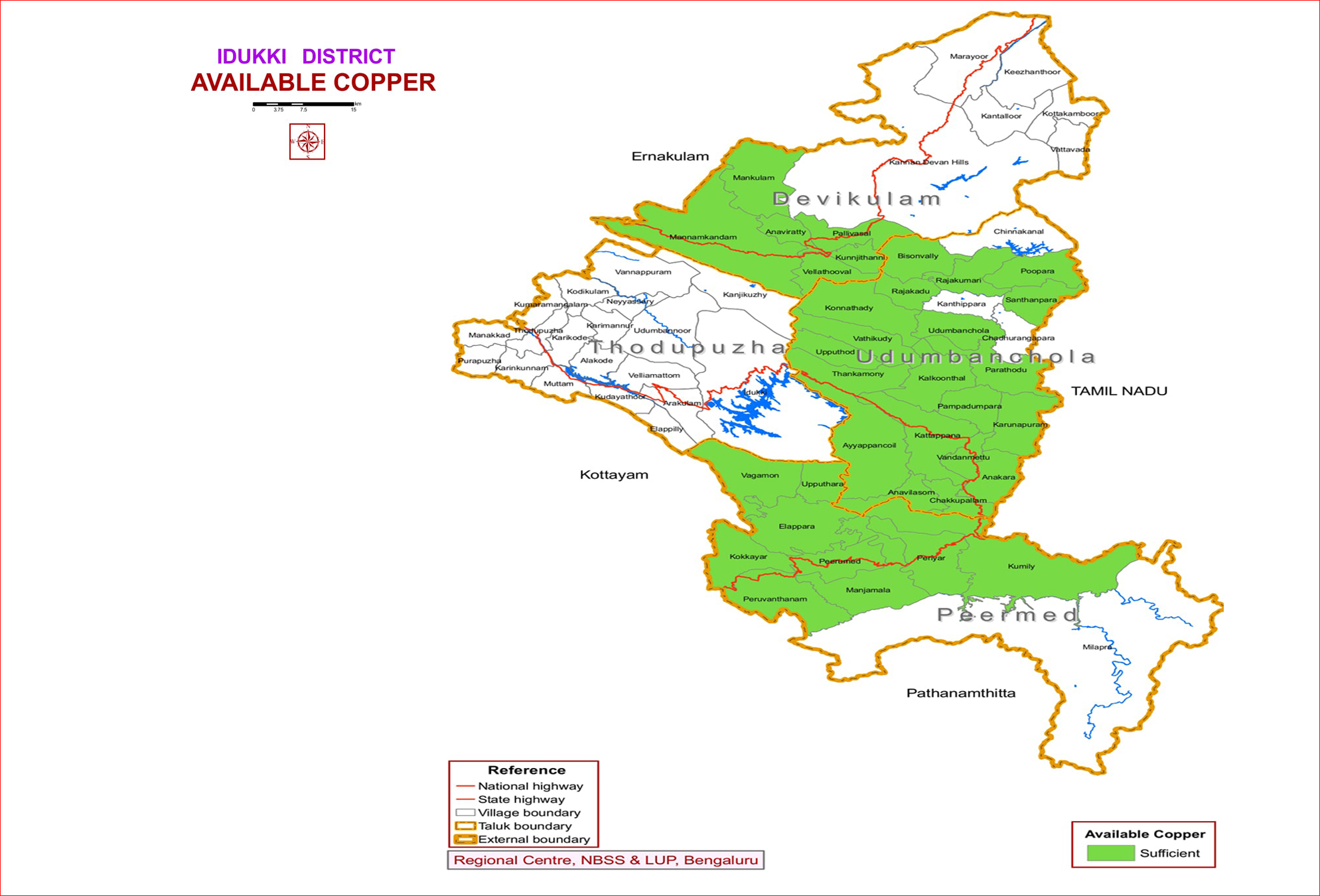 Available Copper, Idukki district